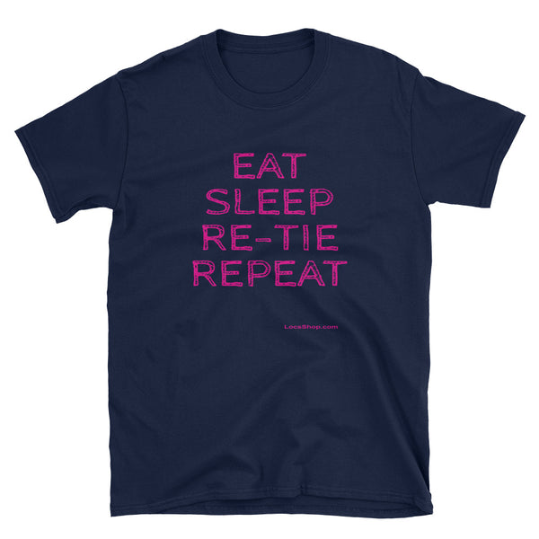 Eat, Sleep, Repeat (Softstyle T-Shirt) - Navy Blue