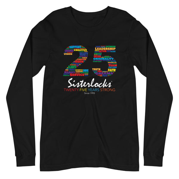 Sisterlocks 25 Long Sleeve T-shirt - Black