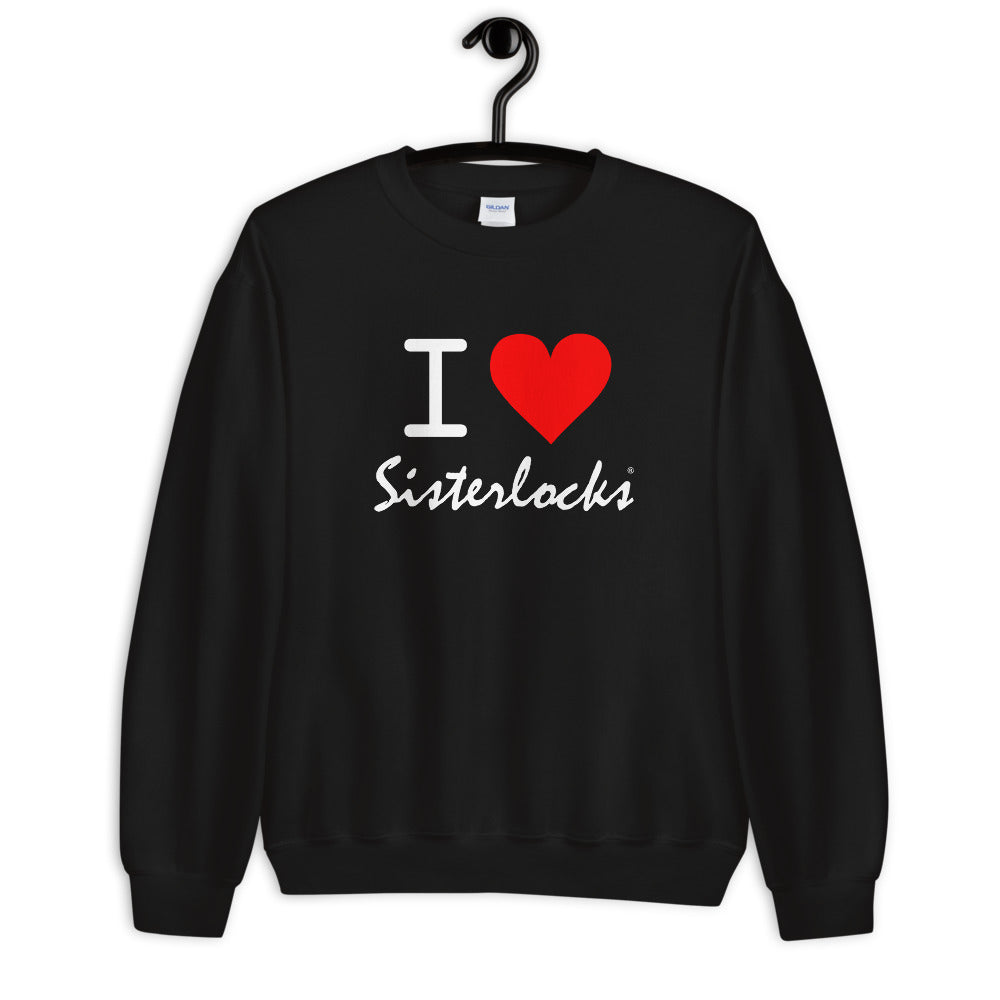 "Sisterlocks ""I Love Sisterlocks"" Sweatshirt - Black"