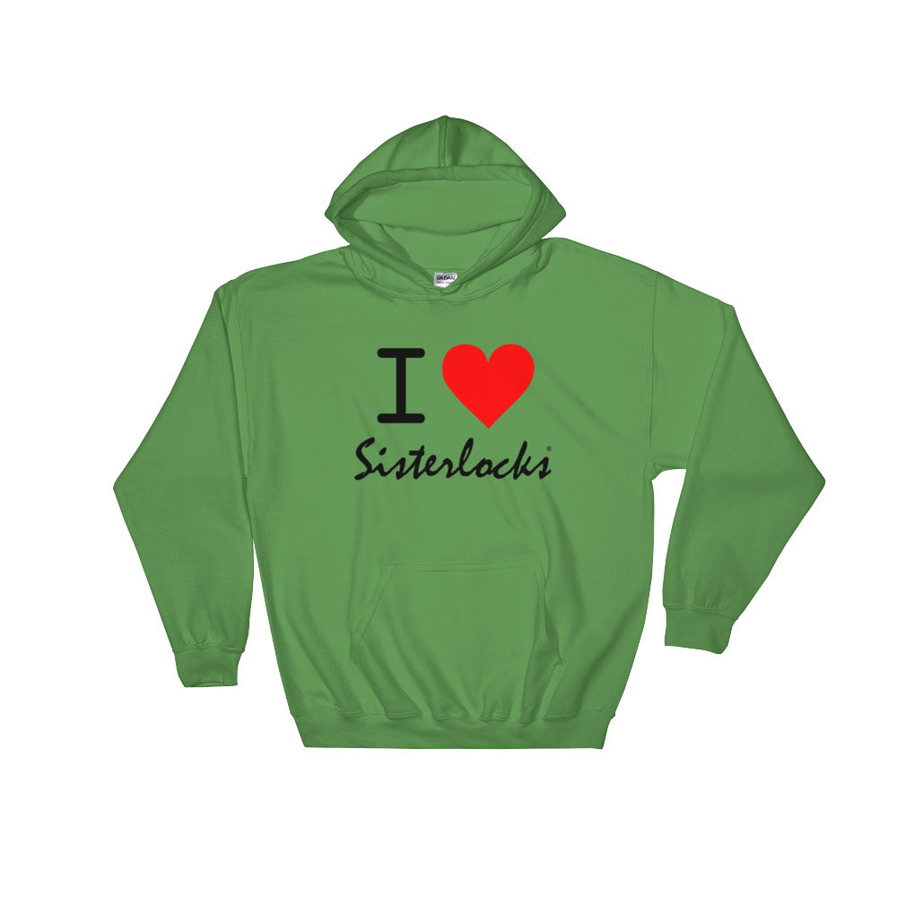 """I Love Sisterlocks"" Hooded Sweatshirt - Green"