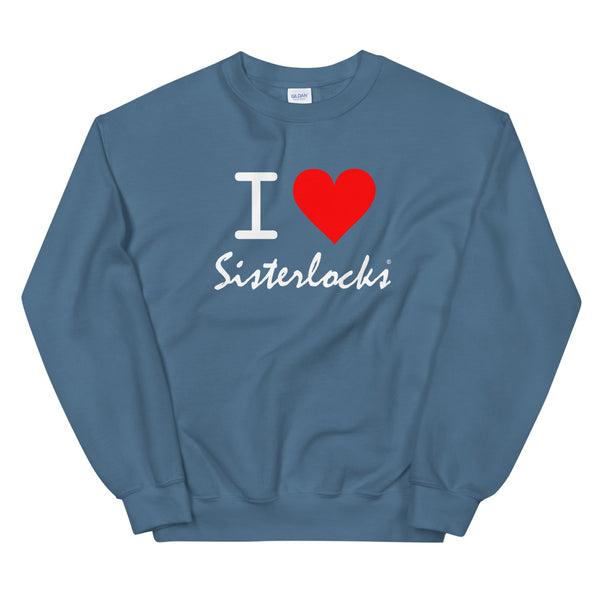 "Sisterlocks ""I Love Sisterlocks"" Sweatshirt - Sky Blue"