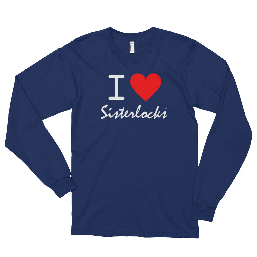 """I Love Sisterlocks"" Long Sleeve T-shirt"