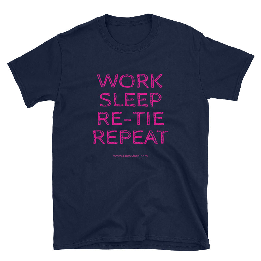 Work, Sleep, Repeat (Softstyle T-Shirt)