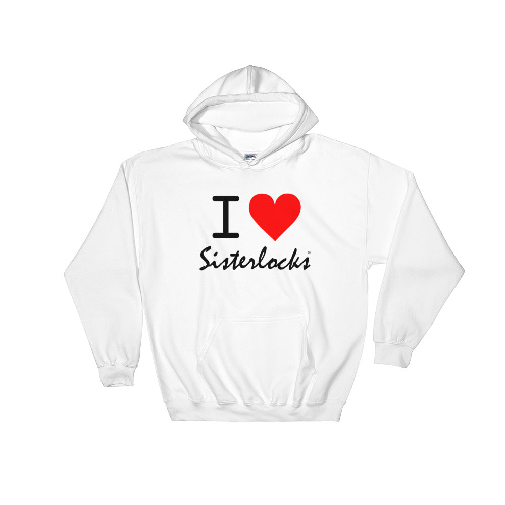 """I Love Sisterlocks"" Hooded Sweatshirt - White"