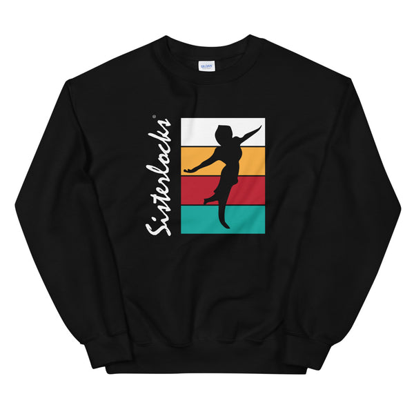 "Sisterlocks ""Flying Lady"" Sweatshirt - Black"