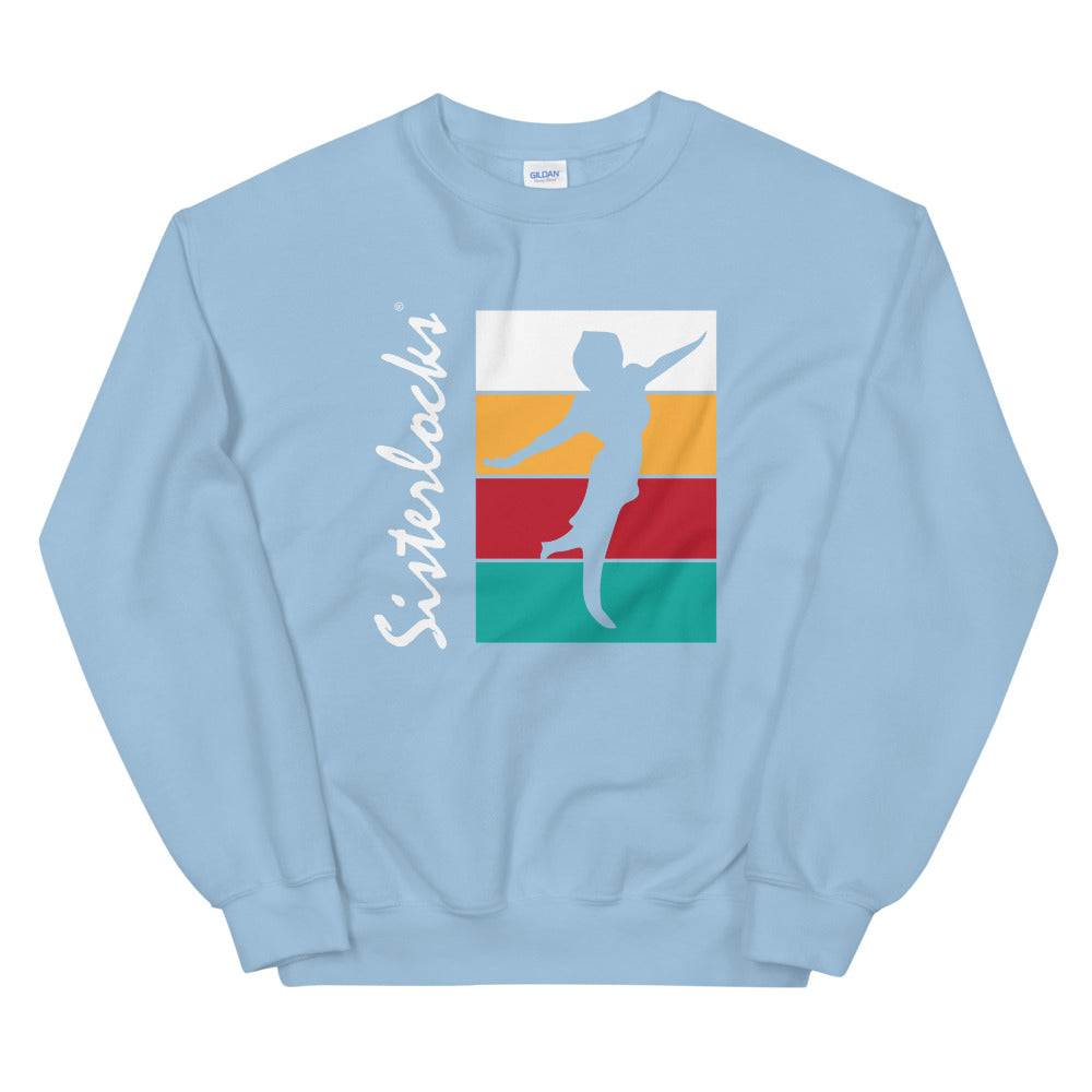 "Sisterlocks ""Flying Lady"" Sweatshirt - Baby Blue"