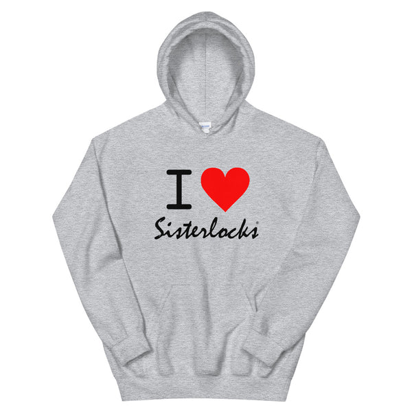 "Sisterlocks ""I Love Sisterlocks"" Hoodie - Grey"