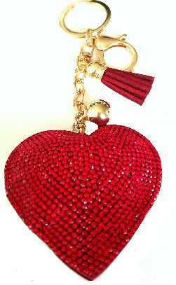 Sparkle heart plush charm
