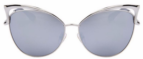 butterfly sunglasses silver and blue