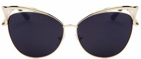 butterfly sunglasses gold and gray