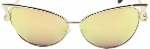 butterfly sunglasses gold with yellow