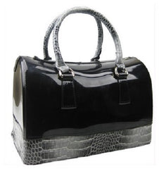 jelly croc handbag black