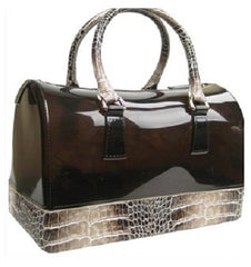 jelly croc handbag brown