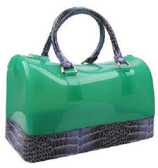 jelly croc handbag green