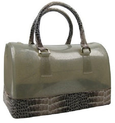 jelly croc handbag silver