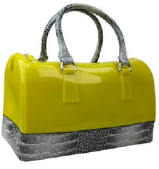jelly croc handbag yellow