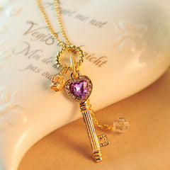 heart key gold