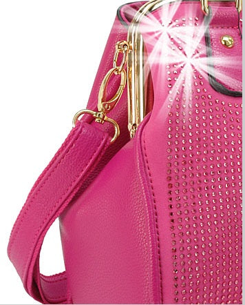 frame handbag in fuchsia
