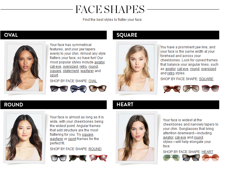 sunglasses fit guide face shape