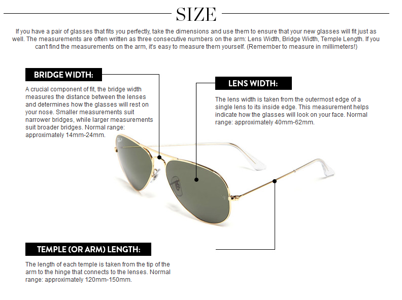 sunglasses fit guide size