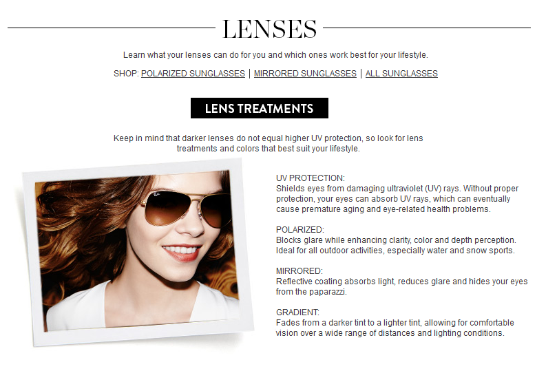 sunglasses fit guide lenses