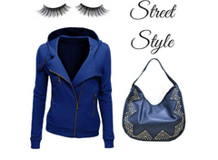 blue studded hobo look book