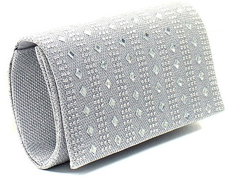 mirroed clutch in white angle