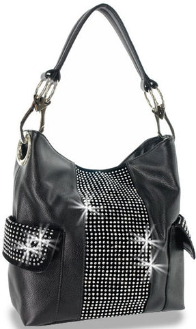 Bling Satchel in black