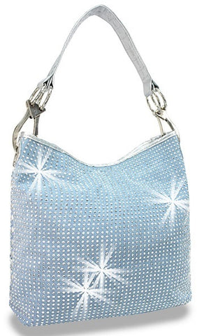 rhinestone shopper in blue