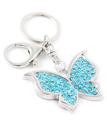 blue butterfly purse charm