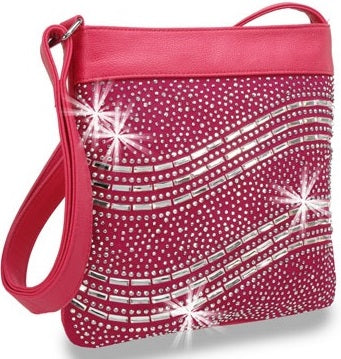 fuchsia wavey cross body
