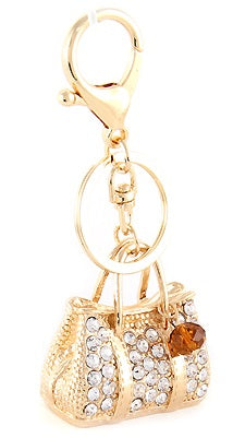 bling sathel purse charm gold