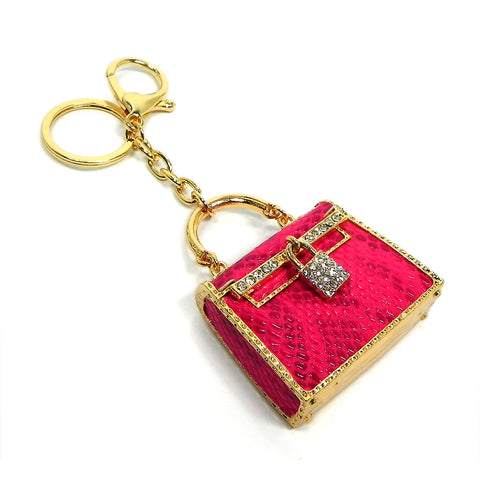 fuchsia handbag key ring