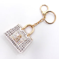 white handbag purse charm