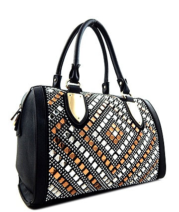 mirrored panel roll bag