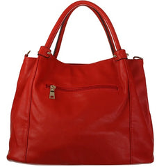 Crimson Red Satchel Back