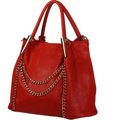 Crimson Red Satchel Profile