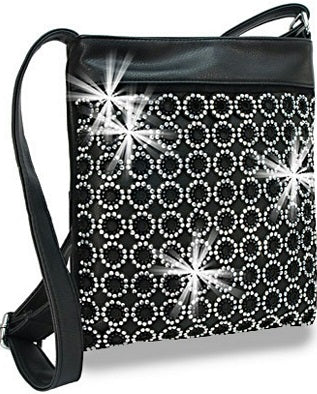 ring of bling cross body bag