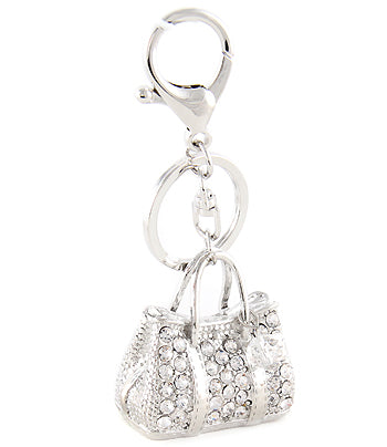 bling satchel purse charm