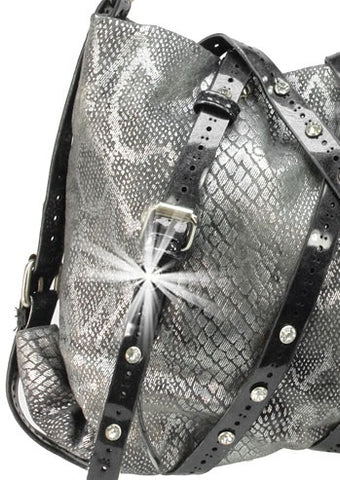 snakeskin bag closeup