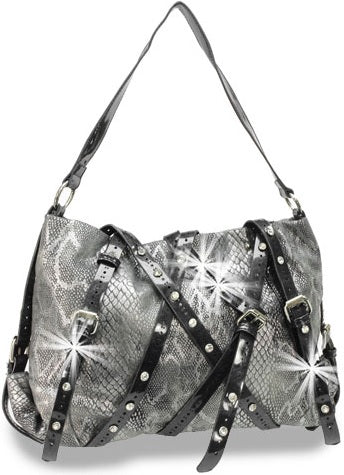 snakeskin shoulder bag