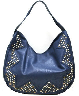 studded hobo in navy