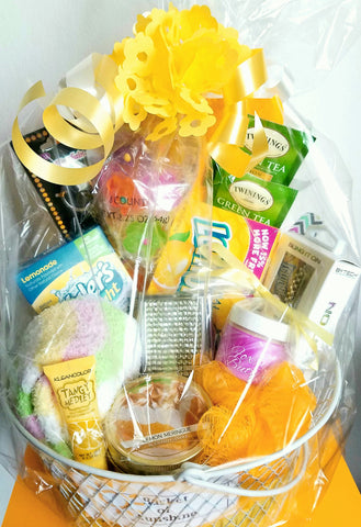 basket of sunshine wrapped