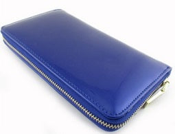 single zip xl wallet in royal blue