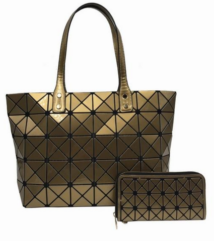 puzzle tote gold