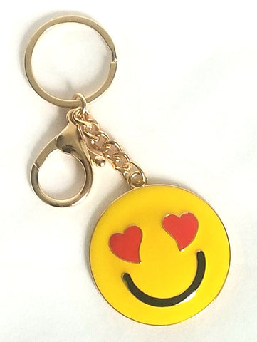 heart eye emoji key rings