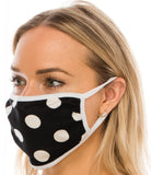 Face Mask black with white dots