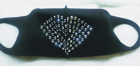 Studded light-weight nylon face covering