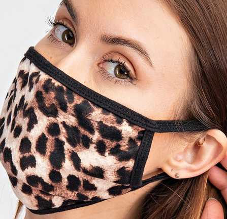 animal print mask brown
