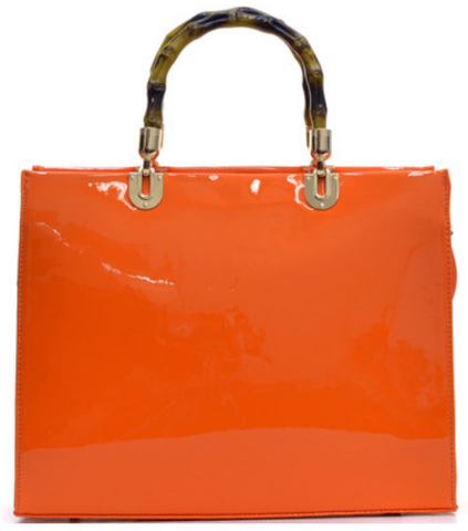 Top handle in Tangerine